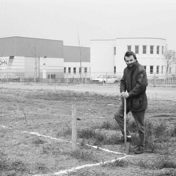 Andreas Wessely beim Spatenstich für das Werk 1 in der Girakstraße 1, 2100 Korneuburg